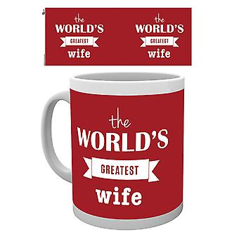 Valentines Worlds Greatest Wife Boxed Drinking Mug