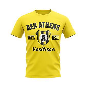 AEK Athens Established Football T-Shirt (Yellow)