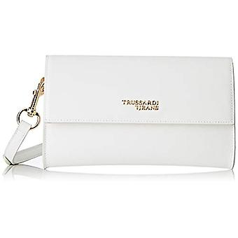 Trussardi Jeans T-Easy Light Clutch Bag Tote Donna White (off/White) 24x14x1 cm (W x H x L)
