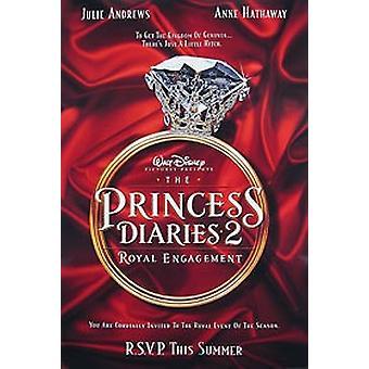 Die Prinzessin Tagebücher 2 (Doppelseitige Vorschuss) Original Kino Poster