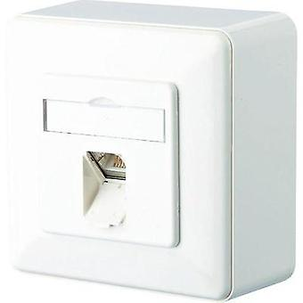 Network outlet Surface-mount CAT 6 1 port Metz Connect Pure white