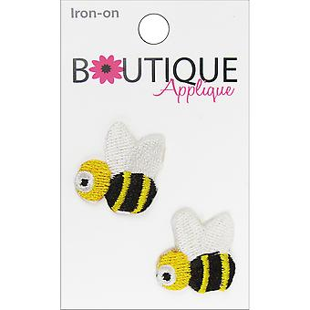 Iron-On Appliques-Bees 2/Pkg A001300-230