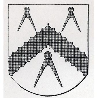 Arms Of Masons Carpenters London Stow 1633 From The Book The History Of Freemasonry Volume Ii Published By Thomas C Jack London 1883 PosterPrint