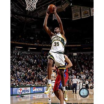 Kevin Durant 2007 / 08 actie foto afdrukken
