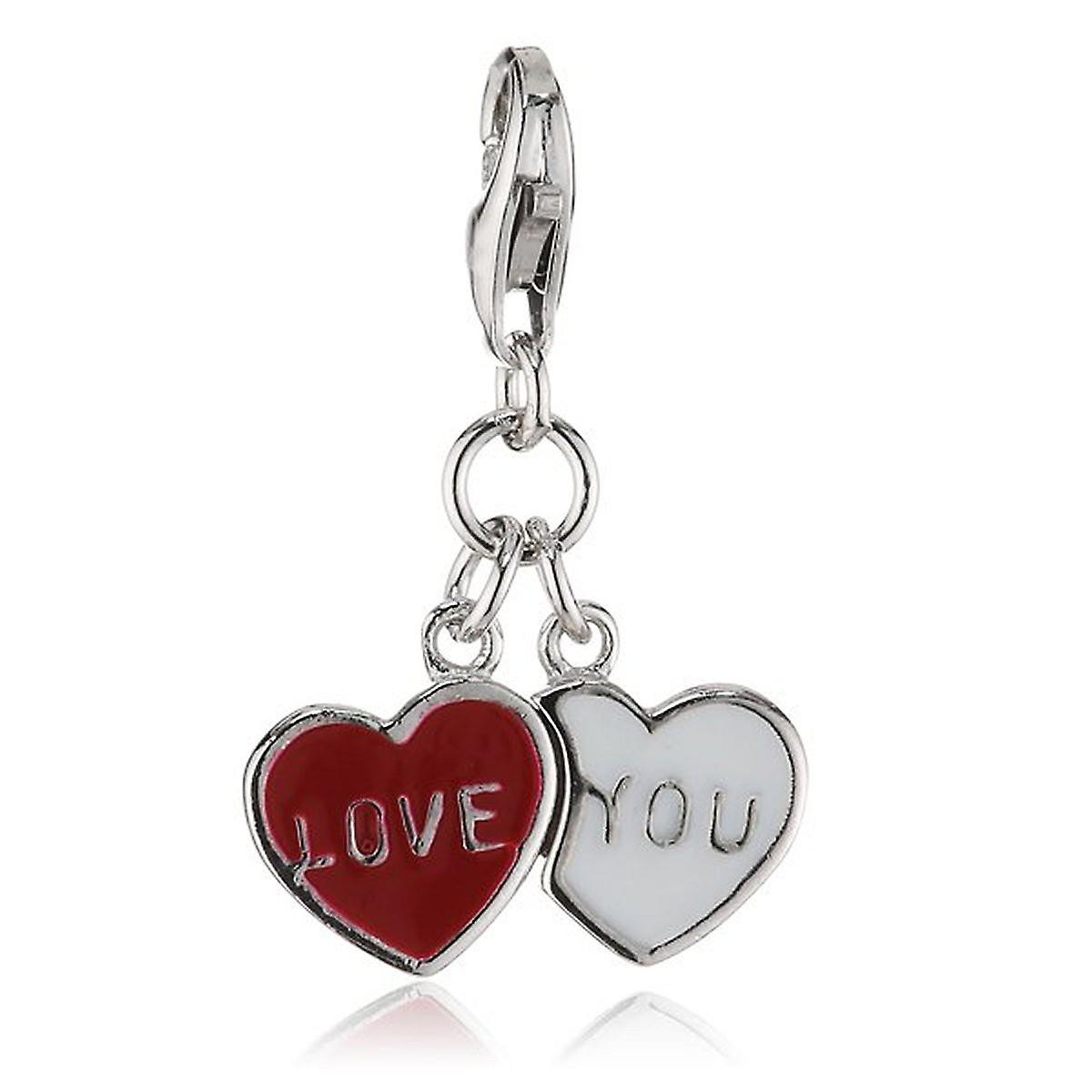 s.Oliver Jewel Damen Anhänger Charm Silber Love You SOCHA/167 - 396172