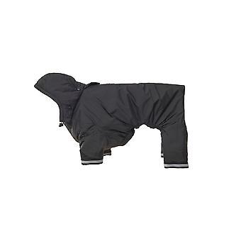 Buster Aqua regn frakke sort Medium store