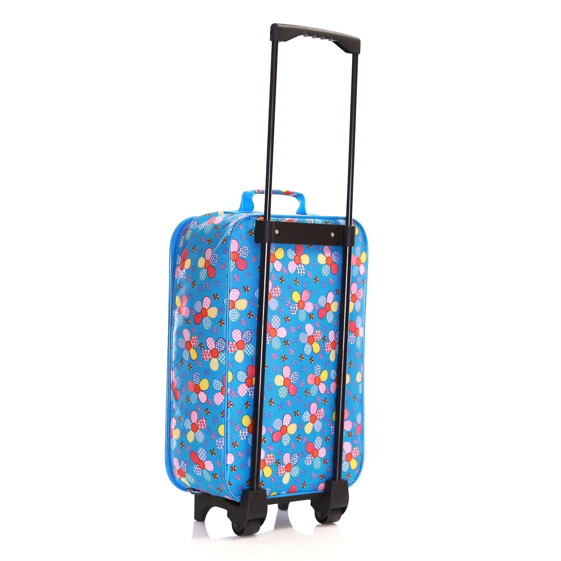 Slimbridge Barcelona Kids Cabin Approved Bag, Blue Flowers