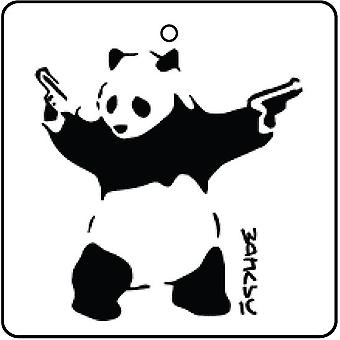 Banksy Panda With Guns Car Air Freshener