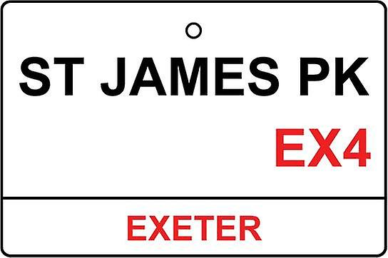 Exeter / St James Park Street Sign Car Air Freshener