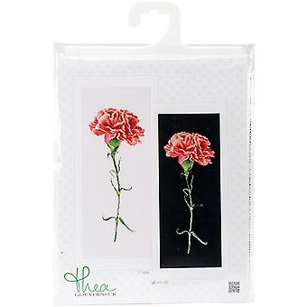 Carnation Red On Aida Counted Cross Stitch Kit-6.5