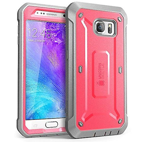 Galaxy S6 Case, SUPCASE Full-body  with Built-in Screen Protector for Samsung Galaxy S6-Pink/Gray