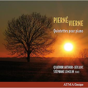 Pierne / Vierne / Lemelin - Qnts Pour Piano [CD] USA import