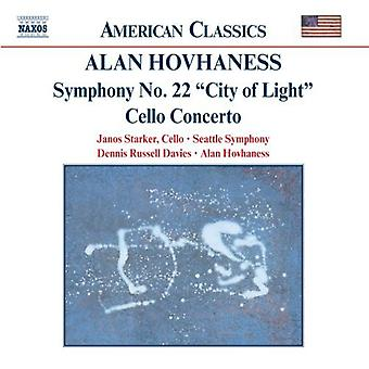 A. Vaness - Alan Hovhaness: Symfoni nr. 22 (City of Light); Cello Concerto [CD] USA importerer