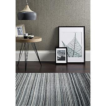 Fine Stripe Grey  Rectangle Rugs Plain/Nearly Plain Rugs