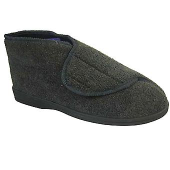 New Mens Coolers Brand MicroFleece Upper Touch Fastener Slipper Boot G229