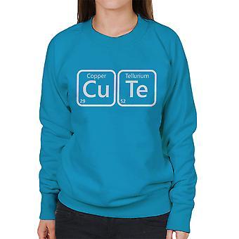 Periodensystem niedlichen Damen Sweatshirt