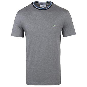 Lacoste Galaxite Chine Tipped Neck Cotton Jersey Tee