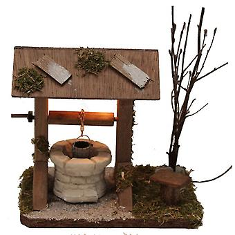 Fountain illuminated Nativity stable Nativity accessories traction for crib