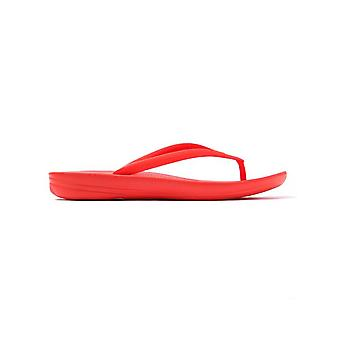 FitFlop Women's iQUSHION Ergonomic Flip Flops - Flame