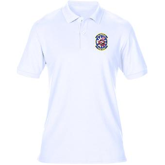 USAF Air Force Flying Tigers 74 Fighter Squadron a-10 broderad Logo - Mens Polo Shirt