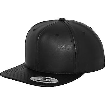 Yupoong Flexfit Unisex Faux Leather Snapback Cap