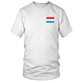 Luxemburg-Land-Nationalflagge - Stickerei Logo - 100 % Baumwolle T-Shirt Herren T Shirt