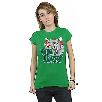 Tom And Jerry Women's Christmas Greetings T-Shirt