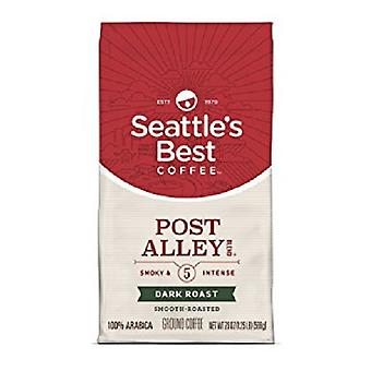 Seattle's beste koffie Post Alley rokerige & intens Dark Roast gemalen koffie
