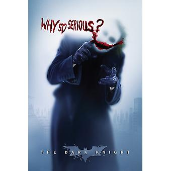 Joker varför så allvarlig affisch Skriv ut affisch affisch skriva ut