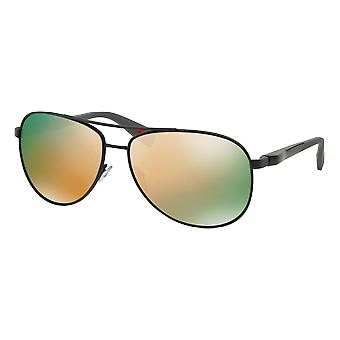 Prada SPS51O Grey Rubber mirrored gray Rose Gold