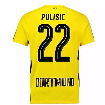 2017-18 Borussia Dortmund Home Short Sleeve Shirt (Kids) (Pulisic 22)