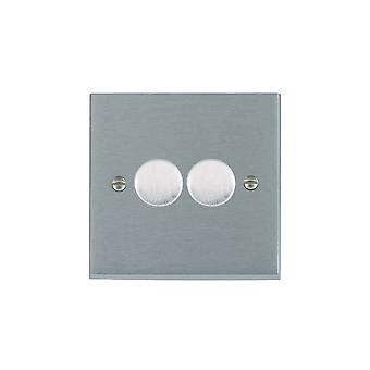 Hamilton Litestat Cheriton Victorian Satin Chrome 2g 400W 2 Way Dimmer SC