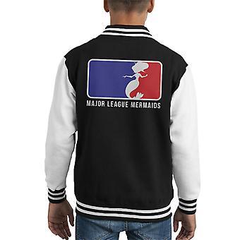 Mermaid MLB Logo Kid's Varsity Jacket