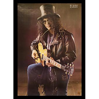 Slash Signed Poster