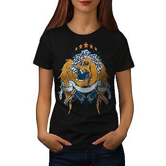 Rose canons Wings Skull BlackT-chemise femme   Wellcoda