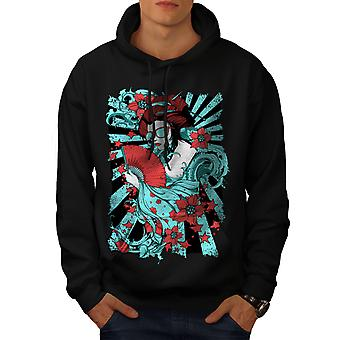 Girl Fashion Fantasy Men BlackHoodie | Wellcoda