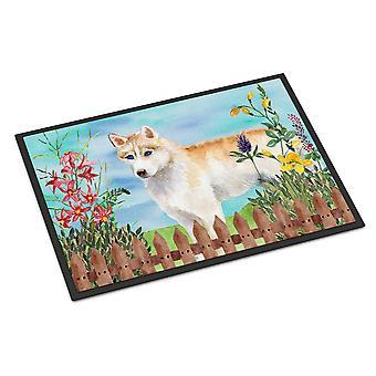 Siberian Husky Spring Indoor or Outdoor Mat 24x36