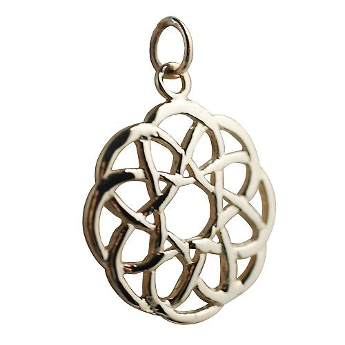 9ct Gold 22mm round Celtic knot design Pendant
