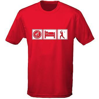 Eten slapen Cricket Mens T-Shirt 10 kleuren (S-3XL) door swagwear