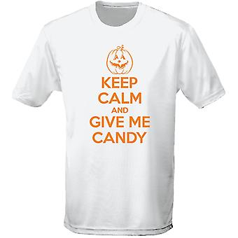Keep Calm And Give Me Candy Halloween Fancy Dress Mens T-Shirt 10 Colours (S-3XL) by swagwear