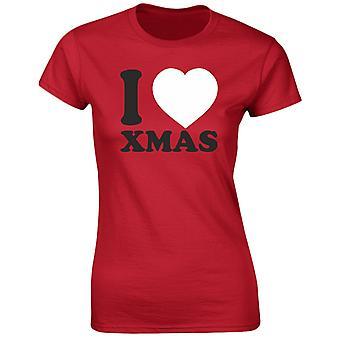 I Love Xmas Christmas Funny Womens T-Shirt 8 Colours by swagwear