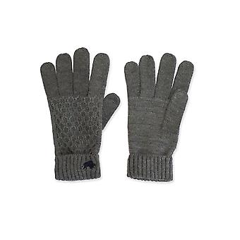 Cable Knit Gloves - Charcoal