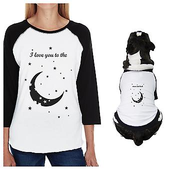القمر والعودة الكلاب الصغيرة وأمي ملابس مطابقة المحملات الرغلا ن معطف القطن