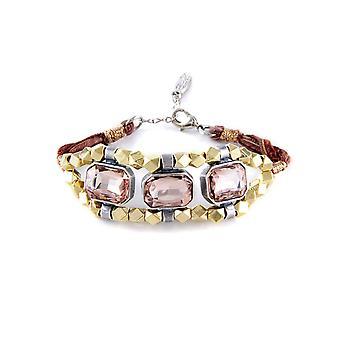 Ettika - Crystal Rose Bracelet and cotton braided ribbons