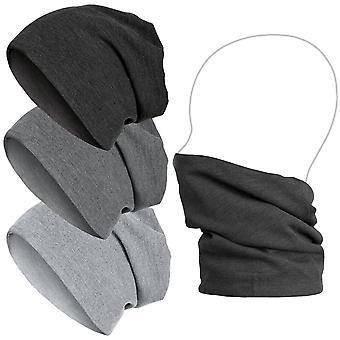Urban classics rib 2 in 1 slouch Beanie - scarf neckwarmer