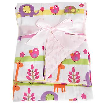 Snuggle Baby Reversible Baby Wrap For Someone Special With Cartoon Nature Design