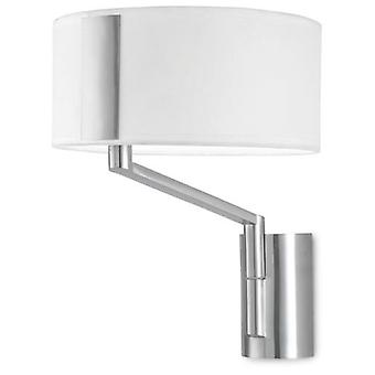 Wellindal Wall Fixture Twist 1xE27 Max 60W Satin Nickel