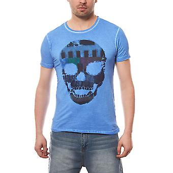 RUSTY NEAL T-Shirt mens Navy skull