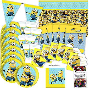 Minions party box original 51-teilig birthday decoration minion party package
