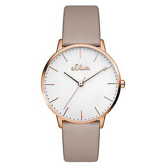 s.Oliver women's watch wristwatch leather SO-3441-LQ